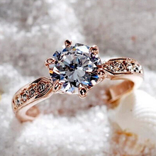 Italina Wedding Rings for women Anel CZ Diamond Rings Jewelry 925 sterling silver ring Engagement Aneis