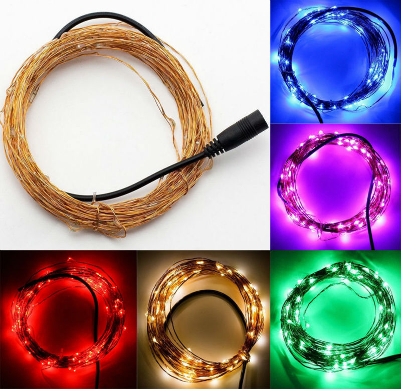 Factory Direct Deal ! 20units/Lot 10M 100LEDs Micro LED Fairy Light String Copper Wire String Light For Wedding Party Event Xmas(China (Mainland))