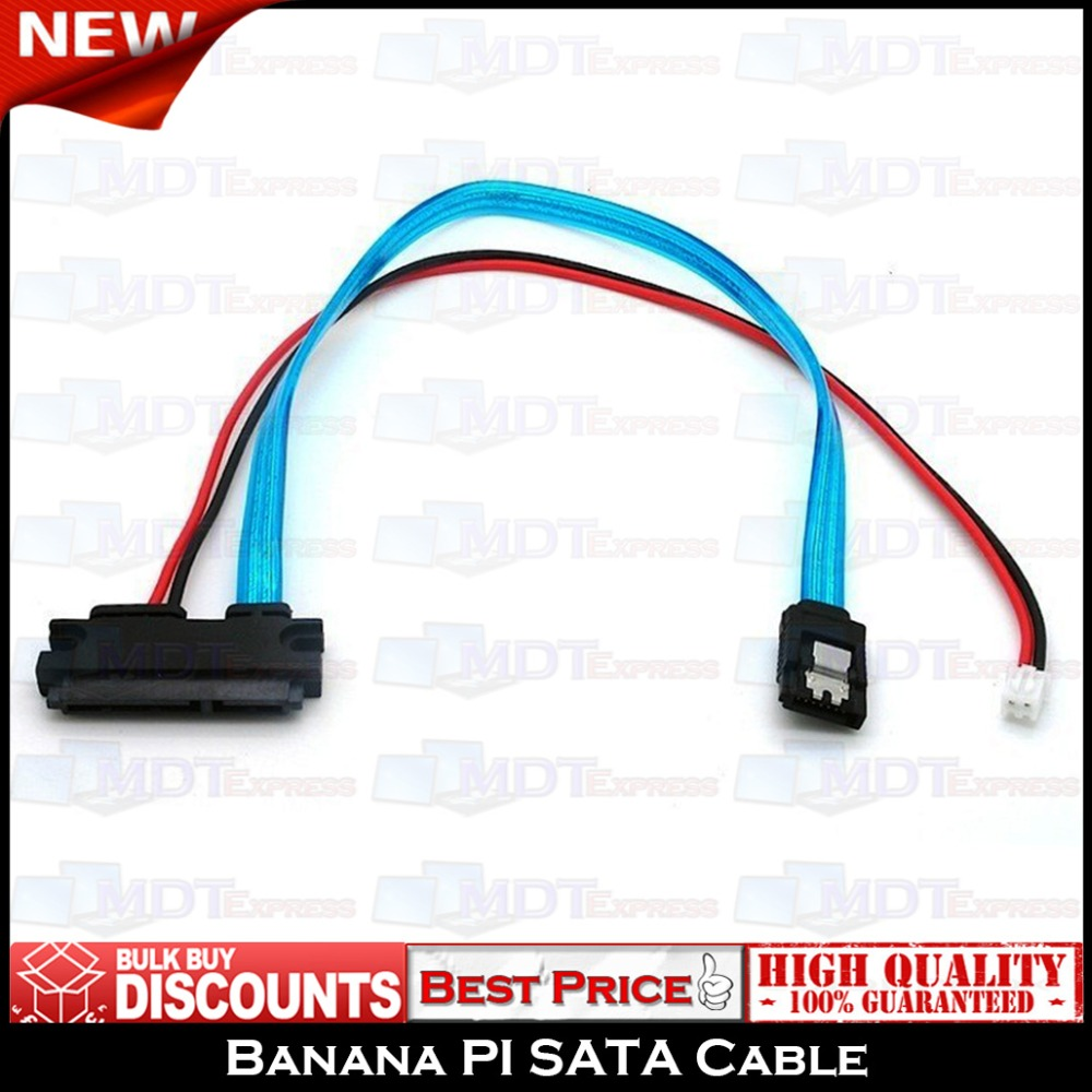 New! High Quality Banana PI SATA Cable HDD Connectors with Power Supply Port(China (Mainland))