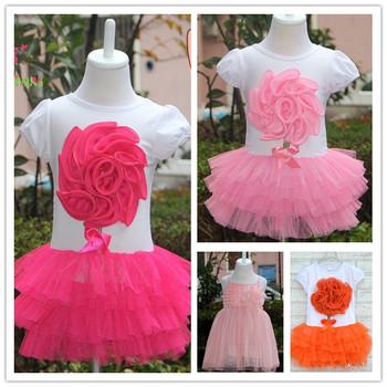 Bear Leader Fashion gril dress Baby Girl Flower Dress Kids Summer Short-Sleeve Layered Dress Children Clothes Clothing 2015 New