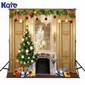 Kate Night Of New Year Photography Backgrounds Christmas Photo Backdrops Christmas Tree Gifts camera fotografica digital