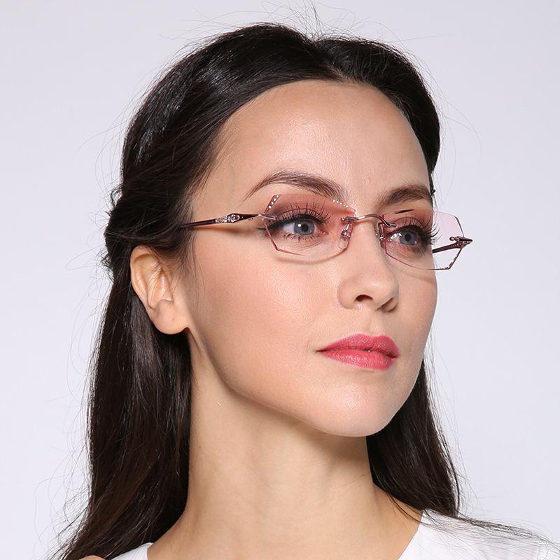 Latest Glasses Frames For Ladies : New Fashion Korea Eyeglasses Titanium Women Myopia ...