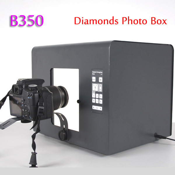 Professional SANOTO B350 Jewelry Photo Box Photography Studio Diamonds Light Box for Network Sellers 35*28*28CM(China (Mainland))