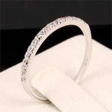 Love Cute Micro Pave CZ Diamond Wedding/Engagement Finger Rings White Gold Plated Fashion Brand Crystal Jewelry For Women DFR133(China (Mainland))