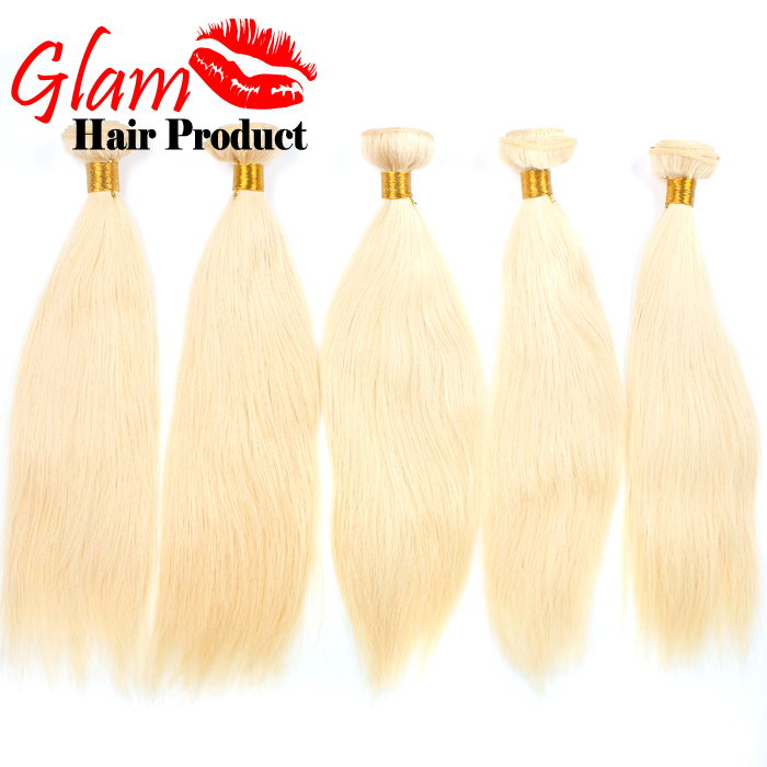 6A Ali hair extensions 613 blonde brazilian hair 5 bundles straight virgin hair Glam virgin hair cheap human hair 100g bundles