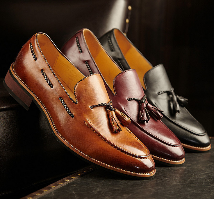 New Fashion Men Oxfords Casual Business Shoes Genuine Leather Shoes Men Moccasins Loafers Slip On High Quality(China (Mainland))