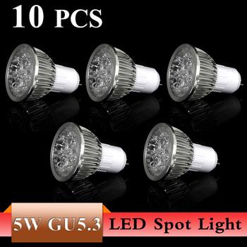 10X High Power LED Lamp Quality Assurance 5W GU 5.3 Cool/Warm White LED Light Lamp Bulb Spotlight  LED Lamp Drop Shipping