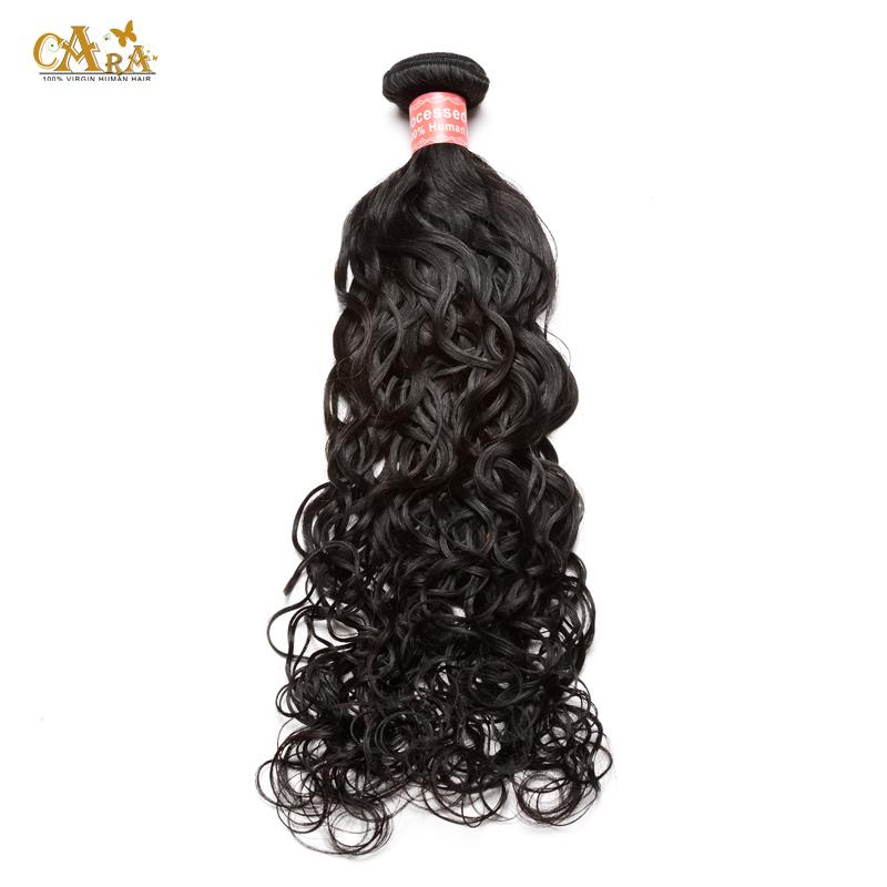 6A Malaysian Virgin Hair Weave Bundles 1Pcs/Lot 100g Water Wave Virgin Hair Natural Black Wet and Wavy Human Hair Extensions <br><br>Aliexpress