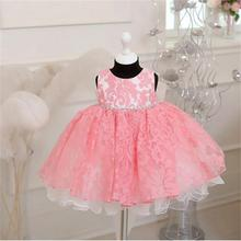 Vintage Newborn Baby Girls Princess 1 year Birthday Party Baptism Formal Gown Dress Bow Children Kids Dresses For Girls Toddler(China (Mainland))