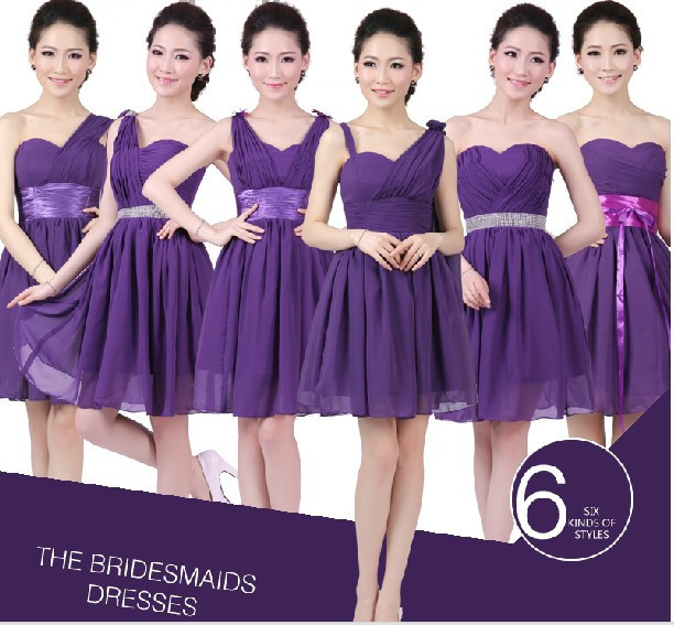 Eggplant Dresses For Weddings Eggplant Colored Chiffon Sweetheart