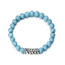 2018 צמיד קלאסי אקריליק כחול חרוזים צמידי גברים נשים הטוב ביותר חבר חם פופולרי A56(China)