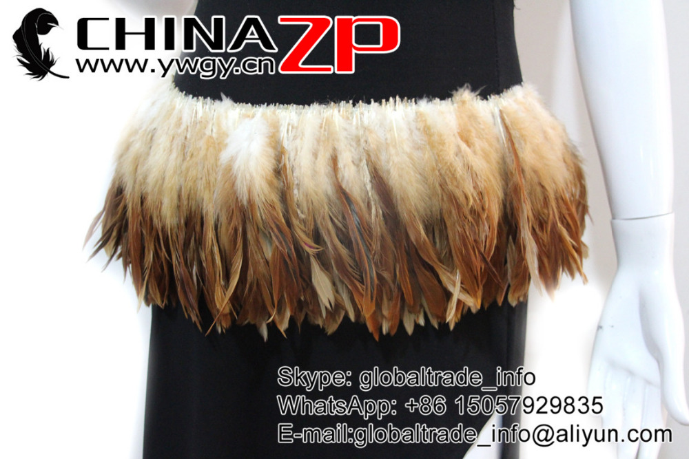 Natural Brown dyed wholesale strung cock feathers (7)