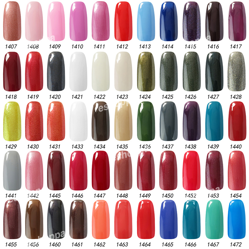 Gel nail polish color set