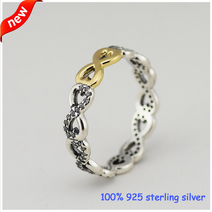 Buy infinity silver rings with 14k gold for Wholesale 14k gold jewelry distributors