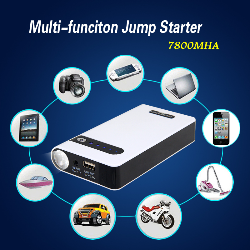 Portable Power Bank 7800mAh Multi-function Jump Starter Mini Car Emergency Charger Laptop External Backup Rechargeable Battery(China (Mainland))