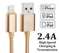 1 5M Luxury Metal Braided Mobile Phone Cables Charging USB Cable Charger Data For iPhone 5