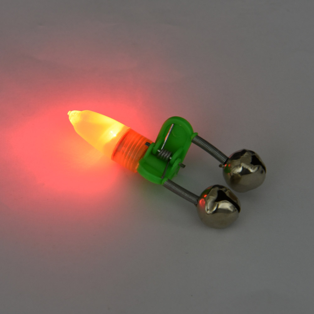 50pcs set fishing bells alarm clip night fishing rod tip for Fishing rod bells