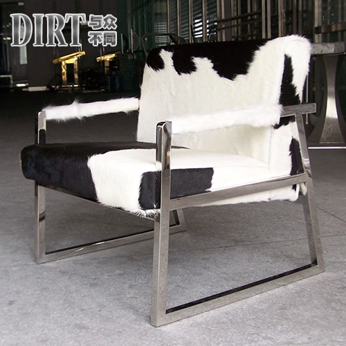 The new stainless steel chair lounge chair sofa chair cow for High end furniture for less