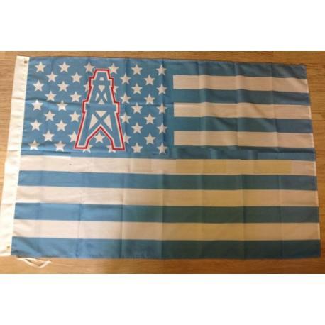 Houston Oilers USA star stripe NFL Premium Team Football Flag 3X5FT HO01(China (Mainland))