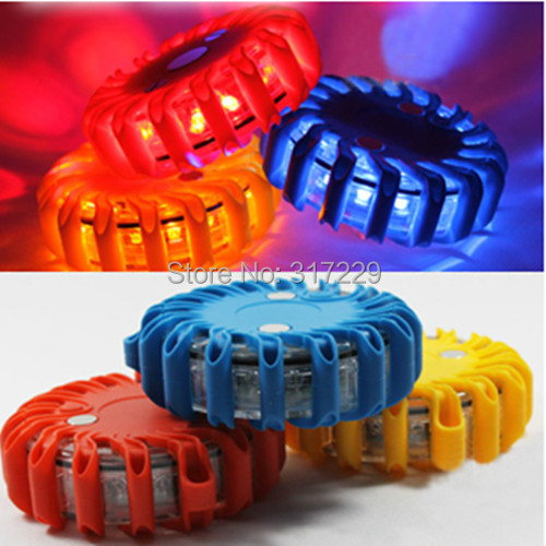 100% New LED Car Emergency Flash Light Ceiling Light Car Vehicle Strobe Lights Warning Lights 3 Colors Available Free shipping(China (Mainland))