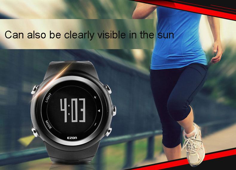 Outdoor sports watch 5ATM series running electronic waterproof watch men's watch smart Step gauge T023  free shipping