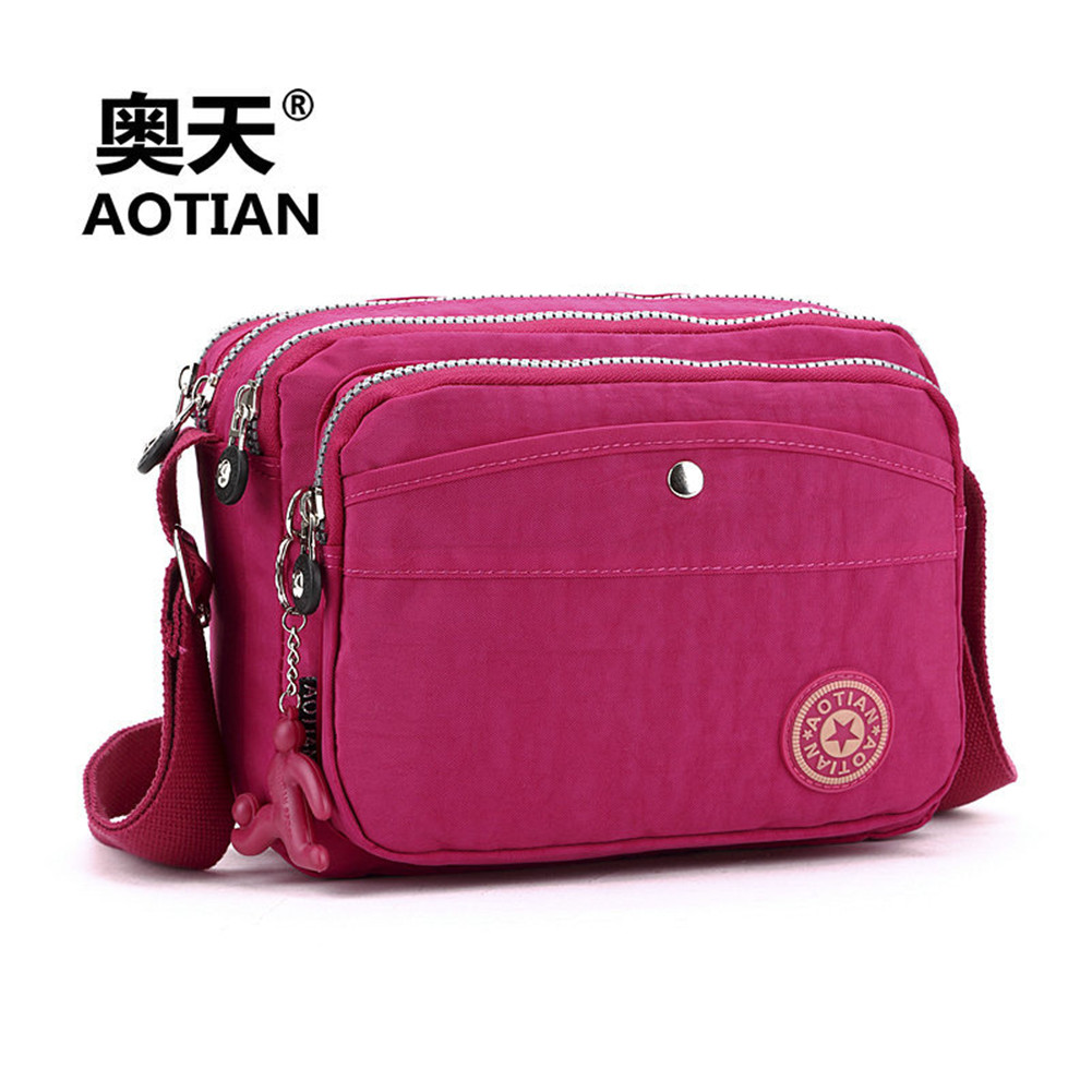 2016 New Wonmens Fashion Handbag Korean Style High Quality Washed Cloth Womens Message Bag Shoulder Bag + Free Shipping<br><br>Aliexpress