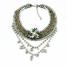 New Luxury Fashion Brand l Rhinestone Necklaces & Pendants Tassel Necklaces Statement Necklace Women Jewelry()