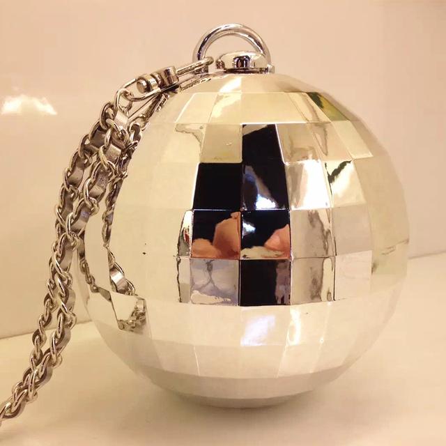 Топ уникальная личность краткий мода сферической акриловой глобус мини ну вечеринку клатч вечера сумки ужин кошелек