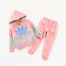 Boys Girls Baby Sweat Suits Children Hoodies Winter Lambs Wool Thicken Kids Clothes Sets New Sports Jacket Sweater Coat & Pants(China (Mainland))