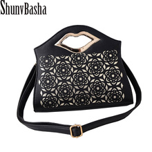 Buy Women Clutch Handbag New 2018 Women PU Leather bags Bag Female Fashion Hollow out Portable Women's one shoulder Cross-body Bag for $18.30 in AliExpress store