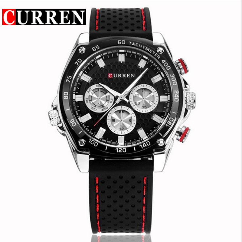 Buy Curren Men 39 S Fashion Leisure Big Dial Watch Quartz Watch Waterproof Sports