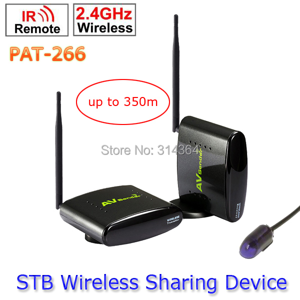 PAT-266 Smart 2.4GHz Wireless 350m AV Sender Transmitter and Receiver TV Audio Video Sender Remote IR Signal Extend US/EU/AU/UK(China (Mainland))