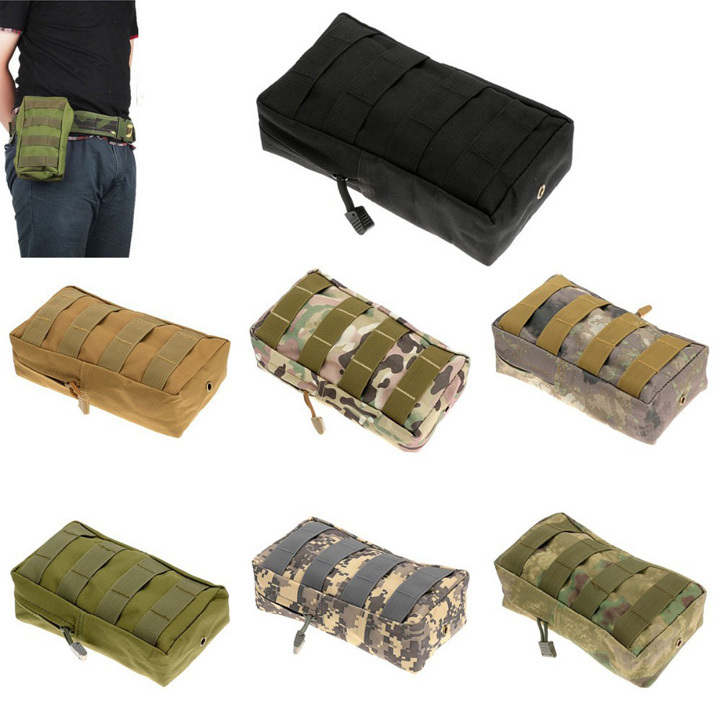 Free Shipping NEW Utility Tactical Waist Pack Pouch MOLLE Magazine Pouch Accessory Medic Waist Bag Watergrass Pouch(China (Mainland))