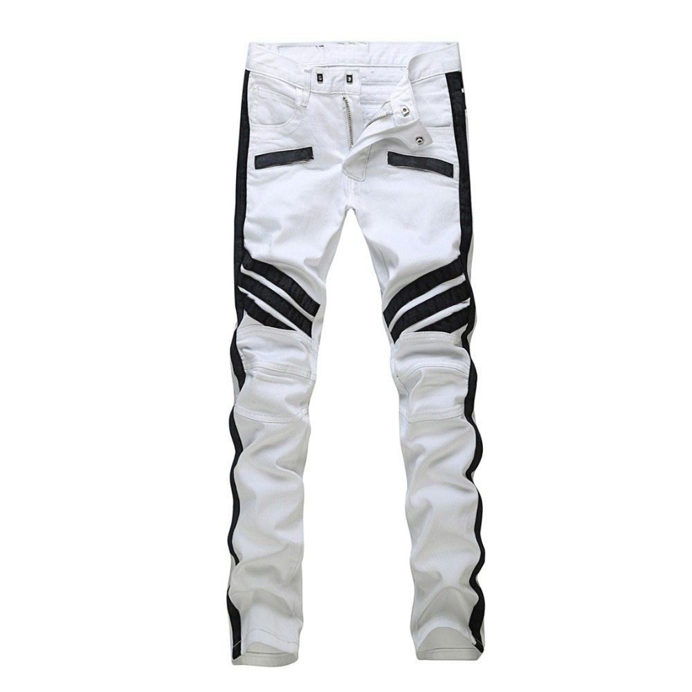 Black And White Jeans For Men - Jeans Am