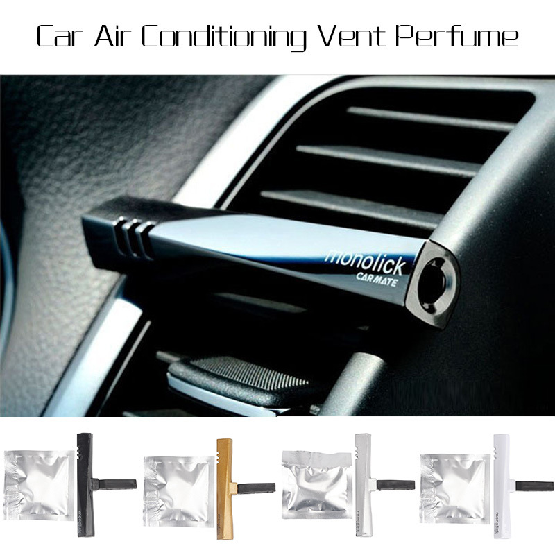 Colorful Perfume Air Freshener Fragrance Luxury Car Air Conditioning Vent Clip XS05