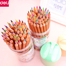 Buy Deli Stationery Professional Non-toxic Nature Wood Drawing Pencils Art Accessories Office School Supplies (18/24/36/48 Color) for $7.30 in AliExpress store