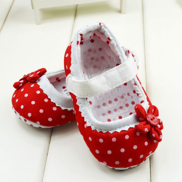 Retail 2016 New Dot Flower Baby Girls Shoes Soft Bottom Shoes Toddler Shoes Baby Shoes  Free Shipping