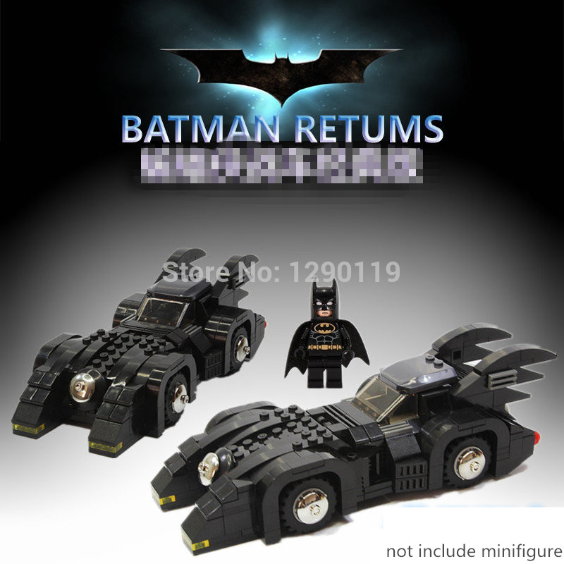280pcs MOC My Own Creation BATMAN Classic Bat Mobile Car Super Heroes Model Building Blocks Minifigures Toy Compatible With LEGO(China (Mainland))