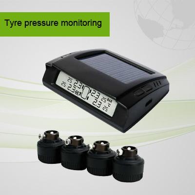 Small Solar power Tire Pressure Monitoring System LCD Wireless Display 4 External Sensors TPMS(China (Mainland))