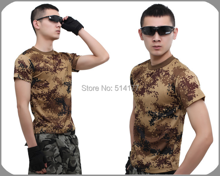 Quick drying T Shirt 2016 New Camouflage Short Sleeve T-shirt, Personality Army O-Neck T-shirt Men's Clothing(China (Mainland))