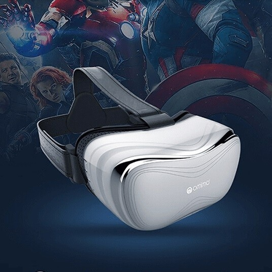 Omimo virtual reality all in one wifi virtual pc glasses oculus 3d headset1080p full hd home theater compatible xbox1