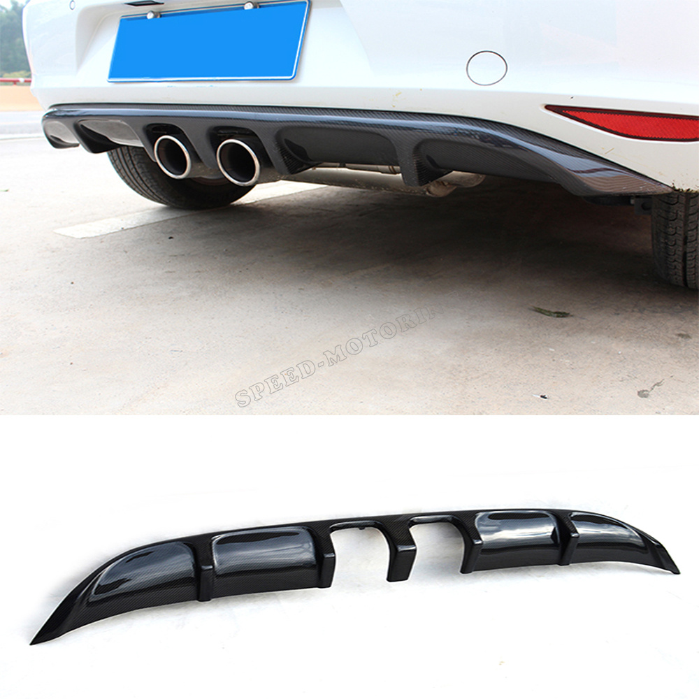 Carbon Fiber MK7 to R20 styling car rear bumper diffuser for VW,auto diffuser for golf VII MK7 2014UP<br><br>Aliexpress