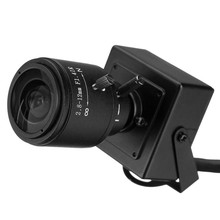 Buy HD Infrared Waterproof Mini IP Camera ONVIF 2.0 1280 X 720P 2.8-12mm Manual Varifocal Zoom Lens 1.0MP Plug Play Bracket for $18.80 in AliExpress store