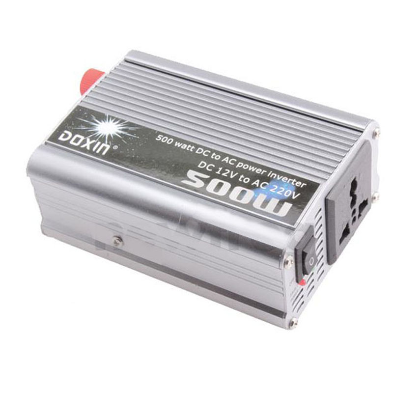 Convenient Practical 500W Watt Car Mobile Power Inverter Converter DC 12V to AC 220V Adapter ME3L(China (Mainland))