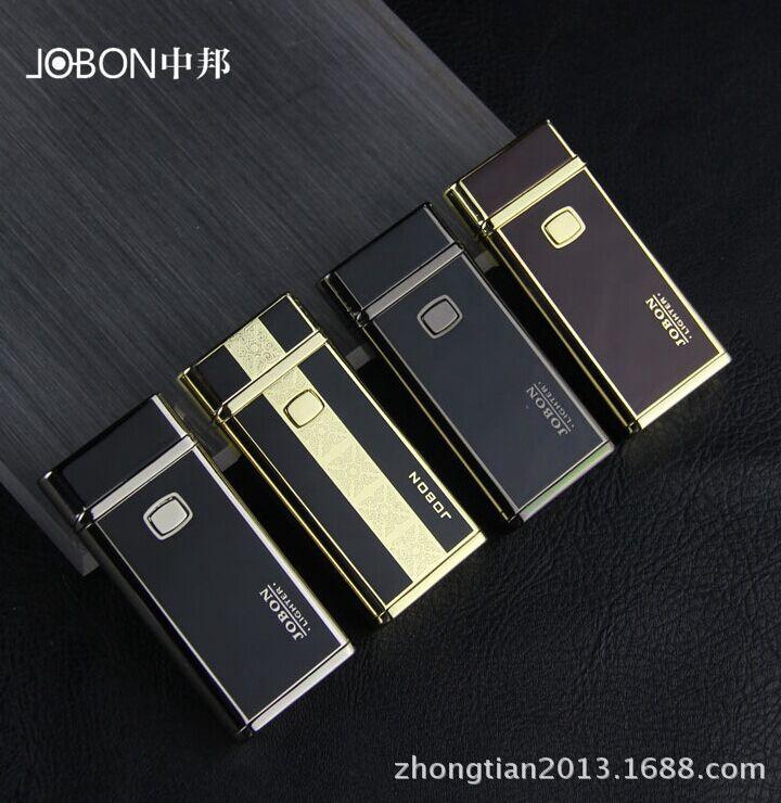 JOBON Brand Novelty USB Lighters Smoking Gadget Electrical Arc Rechargeable USB Honest Metal Pulse Windproof Flameless No Gas(China (Mainland))