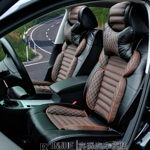 3D Carbon Fiber Leather Car Seat Cover Cushion For