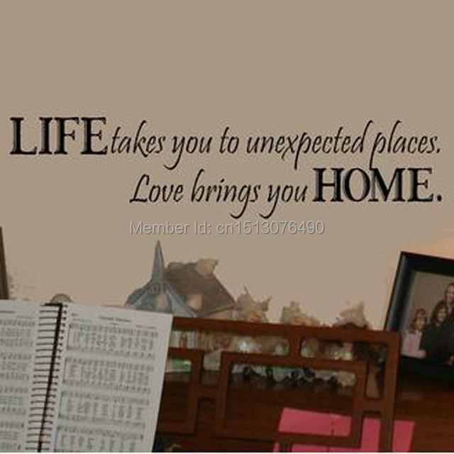 Жизнь приведет вас неожиданных местах любовь приносит вас говоря цитата главная декор 8081 искусство съемный виниловые наклейки наклейки