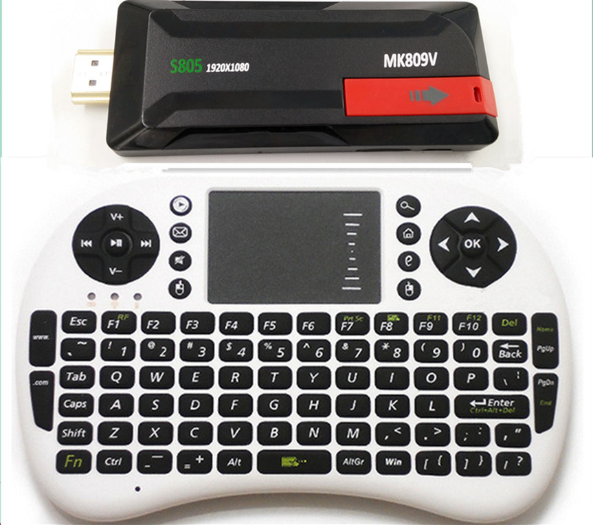 Mk809V Amlogic S805 TV Stick + Air mouse keyboard Quad Core 1.5GHz MINI PC 1080P Android 4.4 Miracast 1G 8G dongle XBMC MK809IV(China (Mainland))