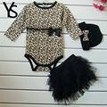 3m 24m Baby Girls Clothing Set baby girl romper headband tutu skirt 3pcs newborn kids outfits