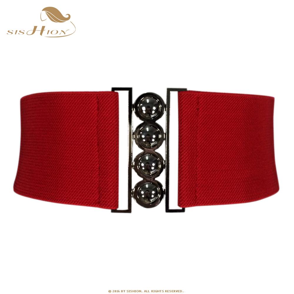SISHION Women Brief Belt Female Wide Belt Decoration Elastic Fashion Cummerbund Strap all-match Lady's Waist Belts Women 003